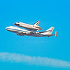 Endeavor space shuttle last flight on the back of Nasa's 747.