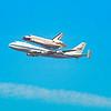 Endeavor space shuttle last flight on the back of Nasa's 747.