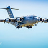 C-17 Globemaster on Final approach for Landing