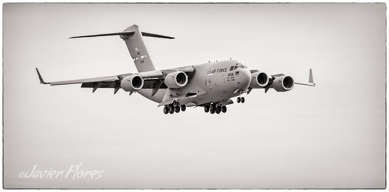 C-17 Globemaster on Final approach for Landing