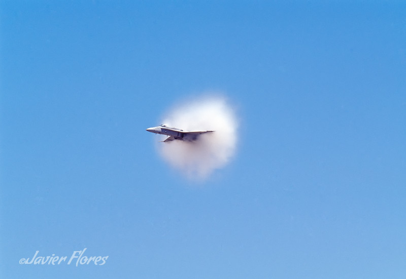 F/18A Close to Sound Barrier