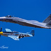 Heritage Flight of P51 and F15