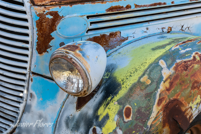 Detail of Old Truck Headlight