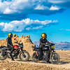 Motorcycles At Trona Pinnacles