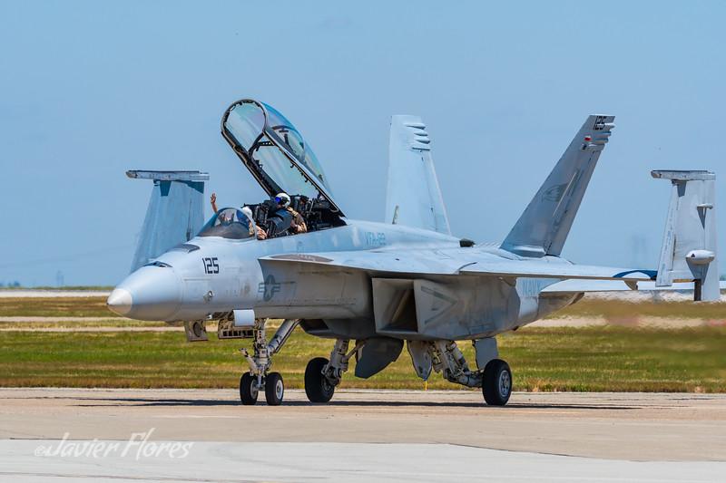 F18 Super Hornet on runway