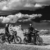 Motorcycles At Trona Pinnacles