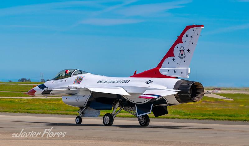 F16 Thunderbird ready for flight demo