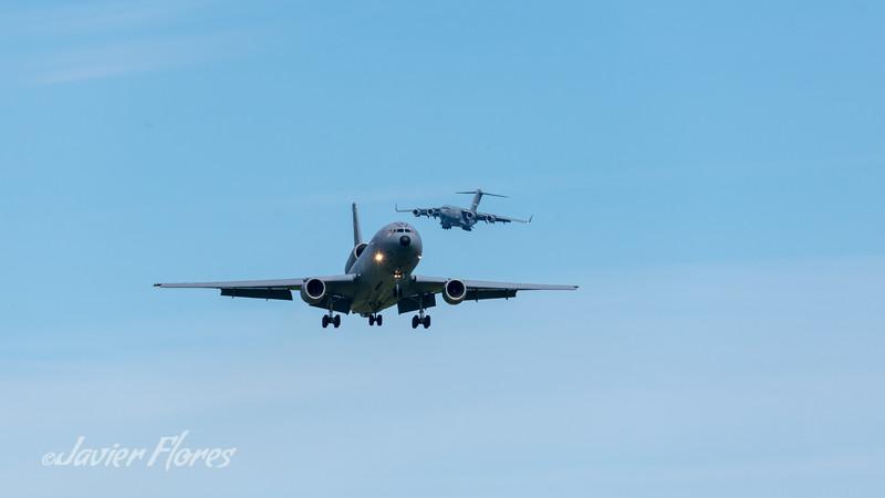KC-10 and C-117 Landing