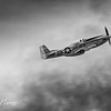 P-51 Mustang in the clouds