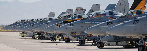 Hornet Lineup  NAS Fallon September 2009