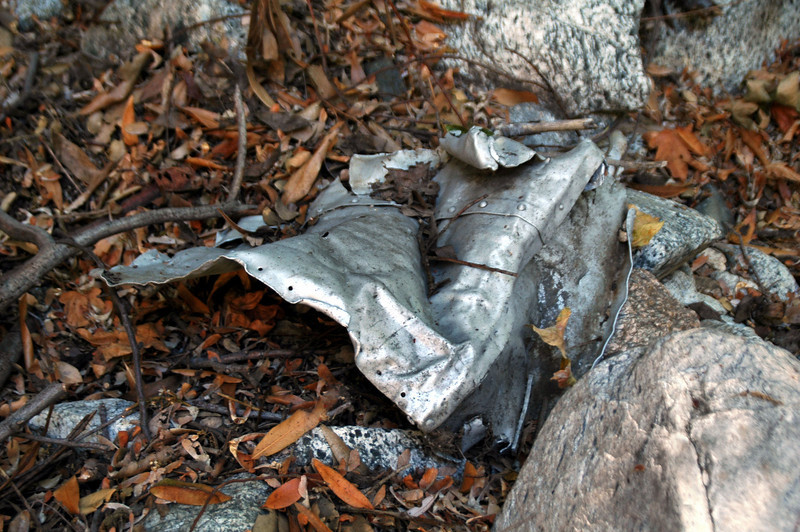 Just a short way past the Dawn Mine, I saw something that caught my eye. I been seeing a lot of things that looked like aluminum but decided to check it out. Soon as I got close, I could tell it was a piece from an airplane.