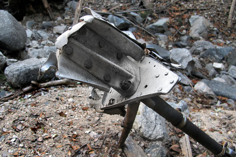This part was attached on the rear of the frame. Think that it is one of the fittings that attaches the rear fuselage section to the frame.