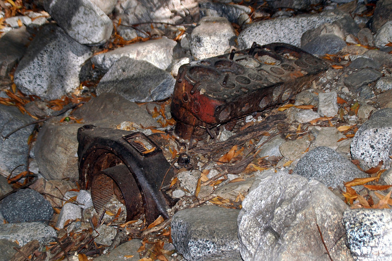 This flat head engine is in the stream bed below the Dawn Mine.
