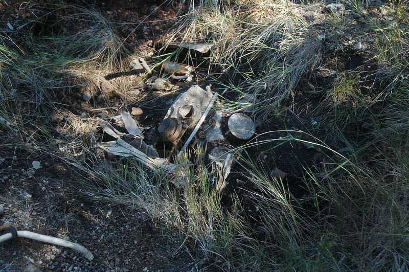 The buried engine at the FG-1A site.