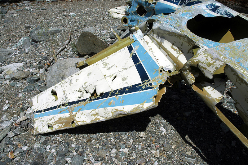 Most of the fin and a piece of the rudder were still attached the fuselage.