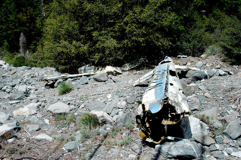 View of the wreckage, looks like most of the sailplane still remains at the site.