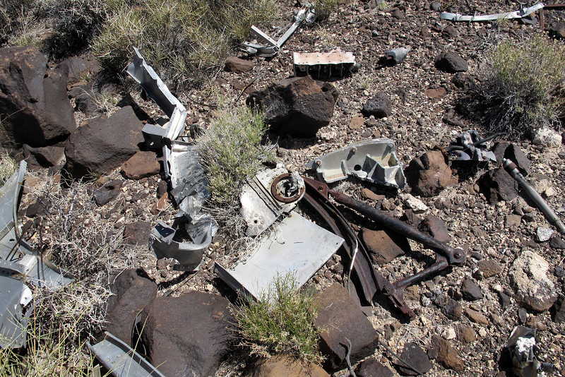 Some of the wreckage in the area.