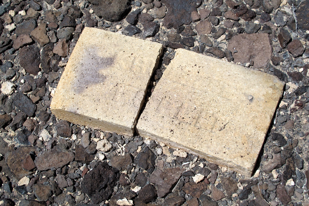 There was also quite a few bricks scattered around at the site. All these things look to me that they were used by the folks who salvaged the site. Maybe something to melt down the aluminum at the site.