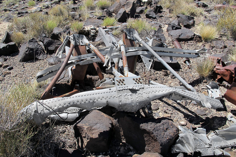 This six foot long structural piece was the largest piece of wreckage in this area.