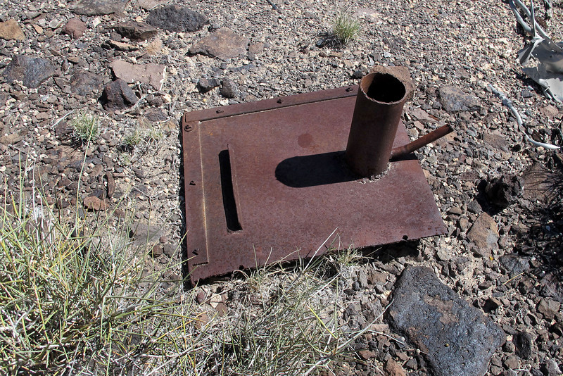 Another item that looks out of place for a B-24 site. Looks more like a part from stove and the vent pipe that I found earlier looks like it would fit it.