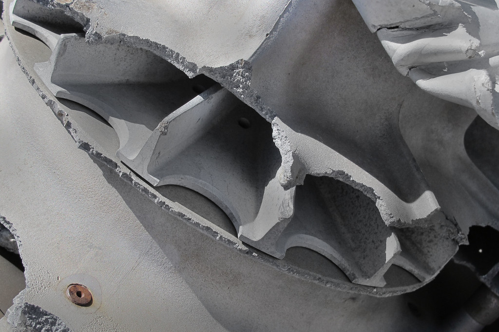 Close up of the impeller.