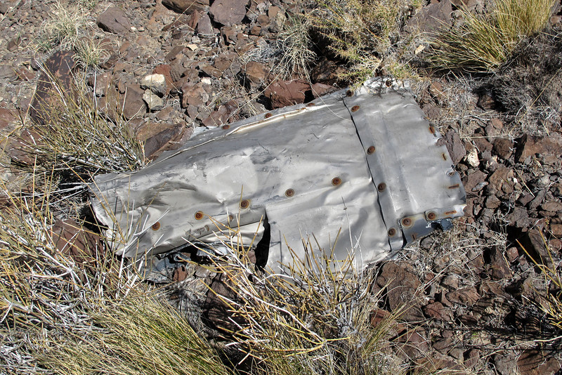 Hiking down the slope, found what looks like a piece from an engine nacelle.