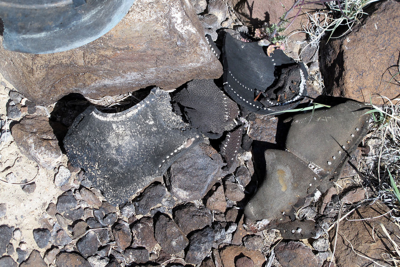 Sole from a shoe. Seeing this brought to mind the men that lost there lives at the site.