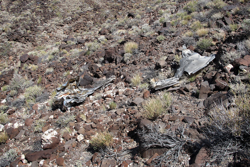 Came upon more of the stainless steel pieces as I hiked down towards the unknown wreckage.