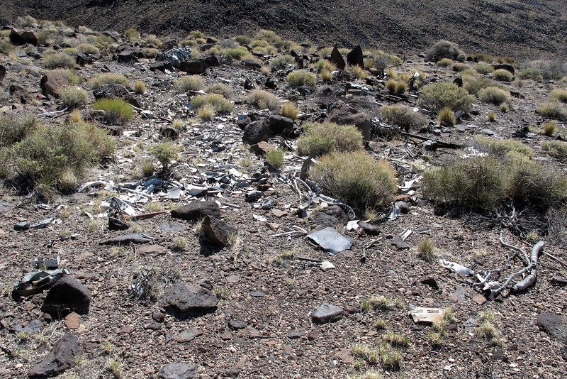 When I returned to the top of the slope, headed in the direction of flight and came upon another area with a lot wreckage.