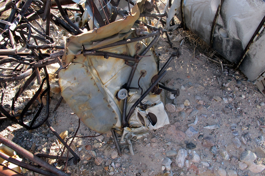 Firewall and engine mount. There was no sign of the engine at the site. It must have been recovered along with some other parts .