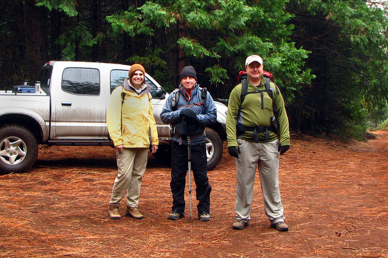 Sami, me and Craig ready for the hike to the C-46A crash site. <br /> <br /> Photo by Rasa Fuller