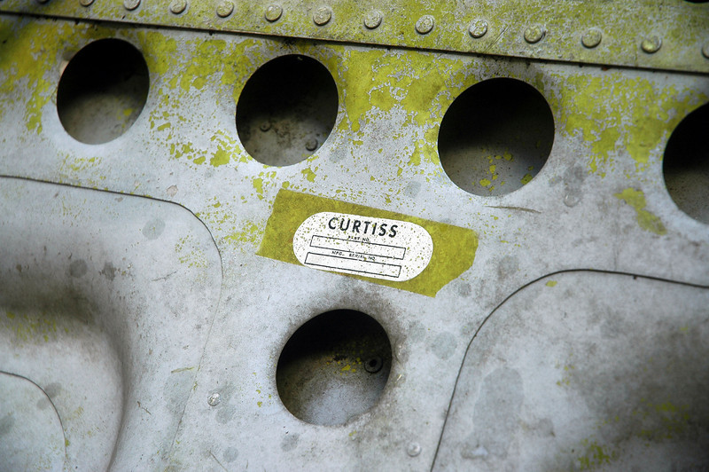 Curtiss tag on the door.