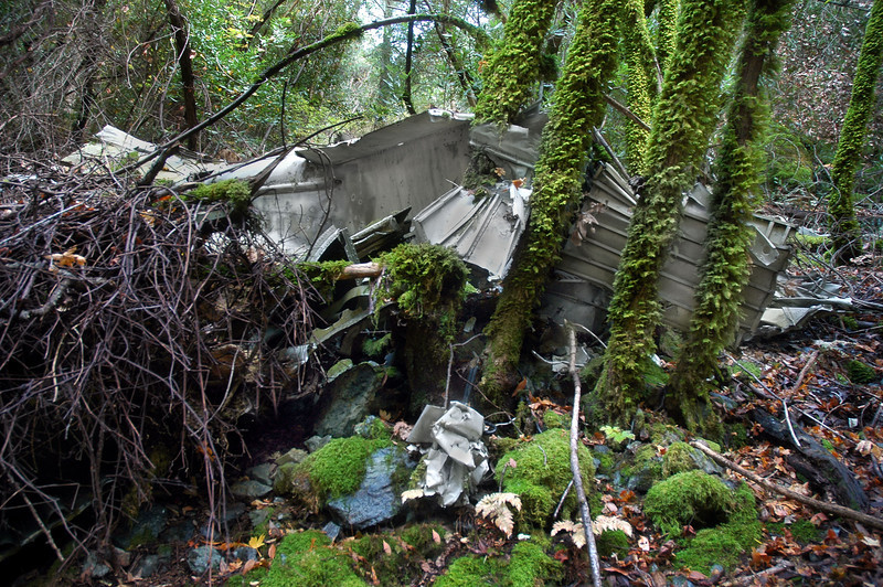 Looking up the slope, I could see a lot more wreckage.