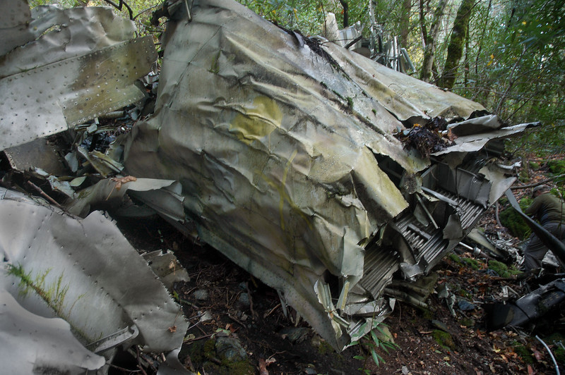This section from the fuselage was the largest piece of wreckage at the site.