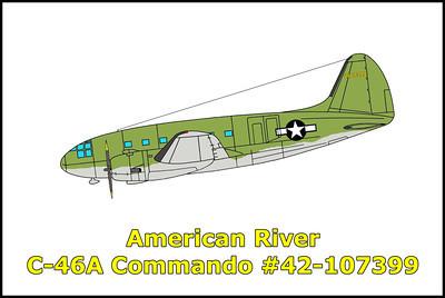 American River C-46A Commando #42-107399 11/12/11