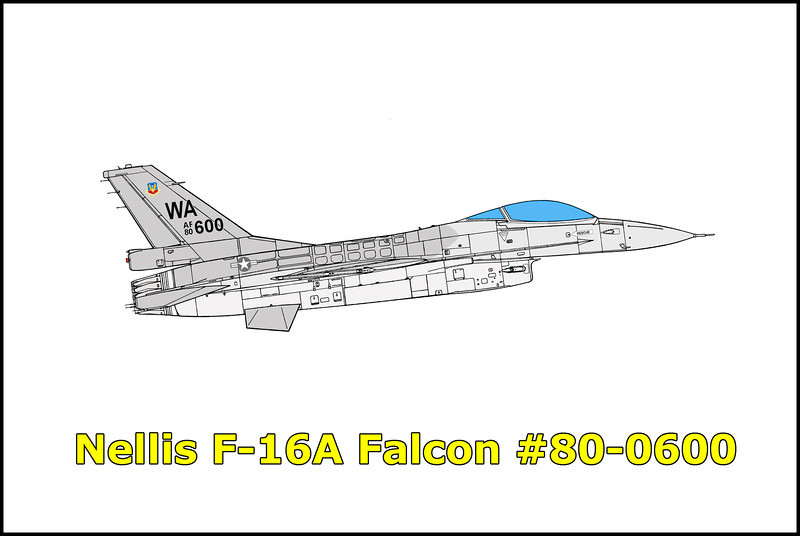 On January 12, 1983 the F-16A Fighting Falcon #80-0600 call sign Cobra 32 piloted by Capt Peter L. Jones, departed Nellis AFB, Nevada at 11:12am as the wingman of a two ship flight. The mission was a Fighter Weapons School one vs one continuation training sortie and was the first flight of the day for both pilots. While proceeding to the Alamo training area each pilot accomplished a system check. Two offensive engagements were flown uneventful. The third engagement began from a four to five nautical mile butterfly set-up with number one turning to the south and number two turning to the north. They passed left to left 180 degrees out at 18,000 to 19,000 feet MSL and approximately 3000 to 4000 feet line abreast. Number one started a left climbing turn and noted Cobra 32 begin a slice to the left. Number one increased his turn and observed a fireball as Cobra 32 impacted the ground. The pilot was killed when he did not eject from his steeply diving aircraft.