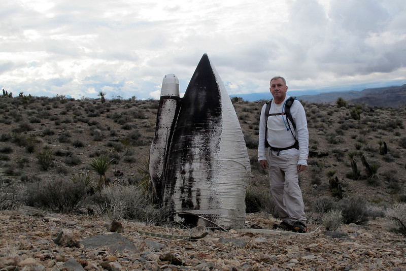 Me with the radome from one of the Phantoms.