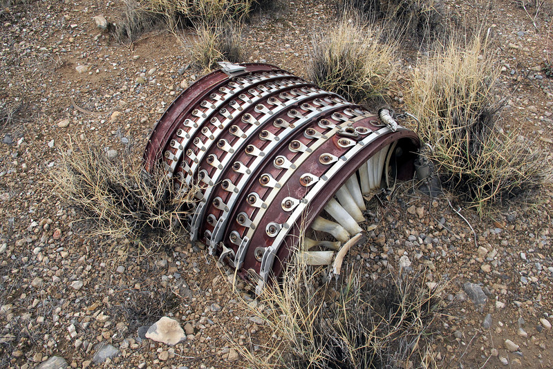 The other half of the stator vane case was nearby.