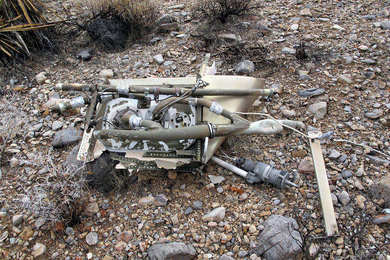 This is the first large piece I came upon. The tubes are fuel lines that are attached to the top of what remains of one of the six fuselage fuel cells.