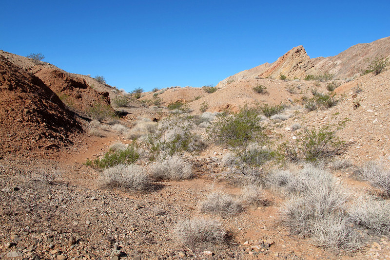 On the hike to the F-86E Sabre crash site. Now that weather has cool down, I can start doing some desert hikes.