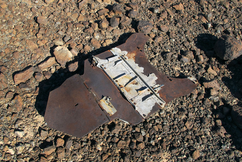 I came upon this armor plate while on the way to the crash site. The site is still about a quarter mile from here.