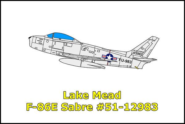 Lake Mead F-86E Sabre #51-12983 10/25/12