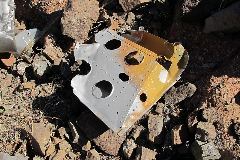 The remains of the speed brake from the left side.