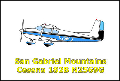 San Gabriel Mountains Cessna 182B N2569G 9/15/13