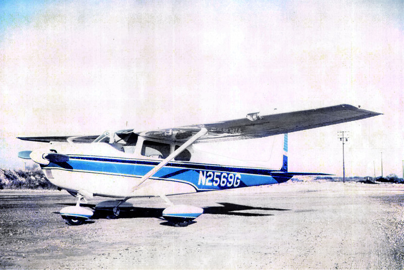 The Cessna 182B Skylane N2569G, date unknown.  <br /> <br /> Photo provided by John Markley