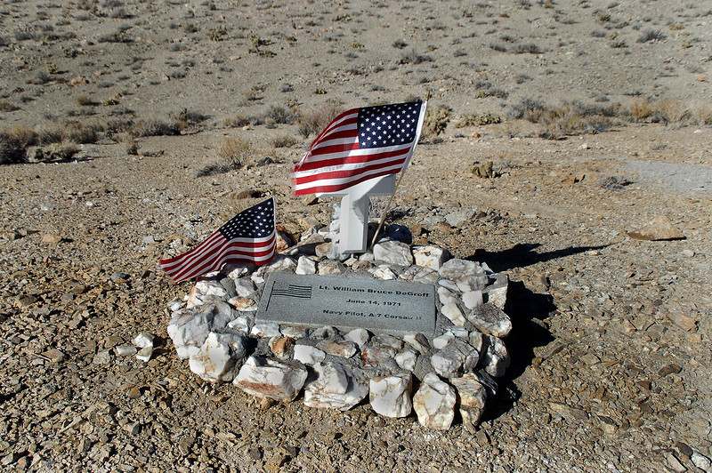 When I got to the area, I spotted a memorial for Lt. William Bruce DeGroff, the pilot who lost his life here over forty years ago.