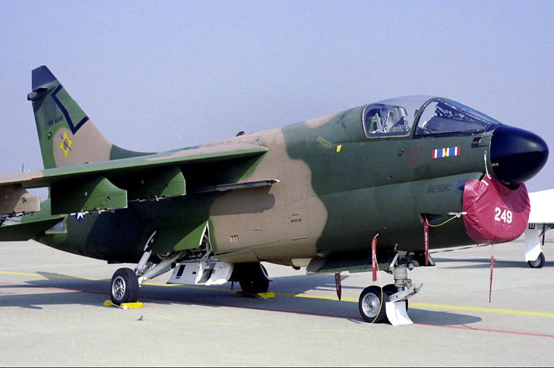 Photo of the A-7D #72-0249 that was evolved in the accident.