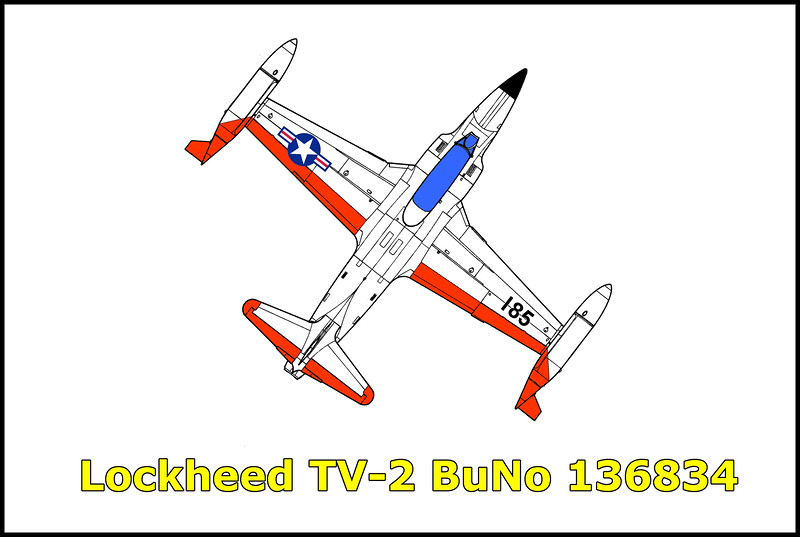 On 9/22/58 the Lockheed TV-2 Seastar BuNo 136834 crashed in the desert in southern California after it suffered  from some type of engine failure. Both pilots, Lt. A. H. Gonzalez and student Lt. H. C. Quitmeyer were able to eject with only minor injuries. The aircraft was assigned to VF-121 at North Island NAS.