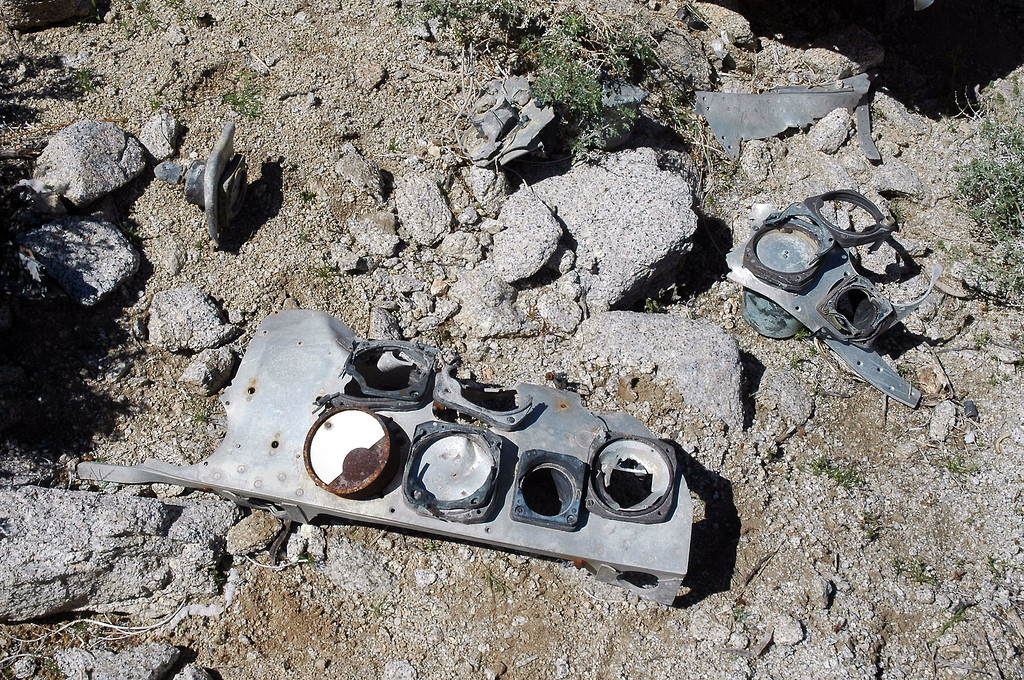 Pieces from  of one of the instrument panels.