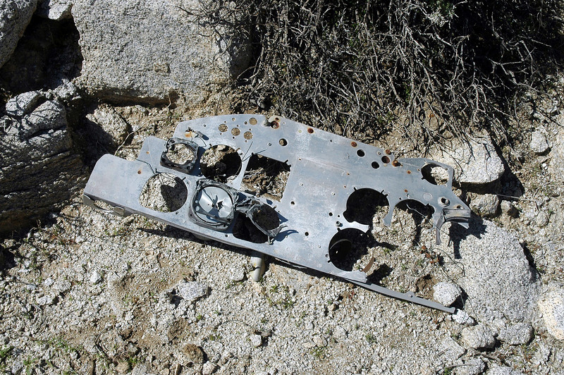 Large piece of one of the instrument panels.